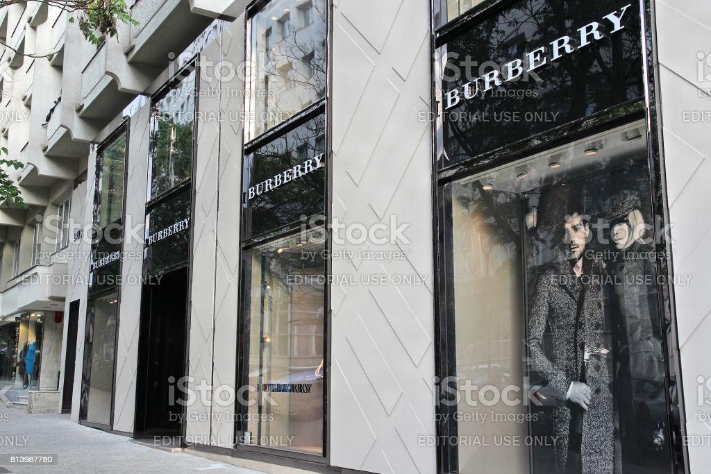 Burberry fashion stock photo