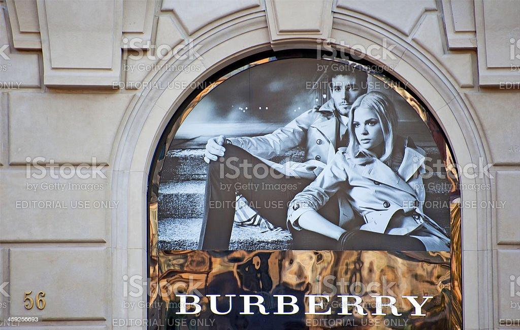 Burberry logo stock photo