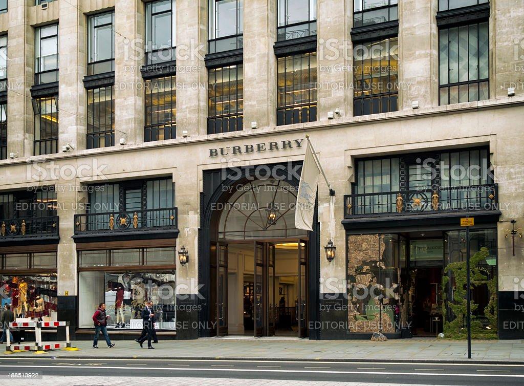 Burberry, Regent Street, London stock photo