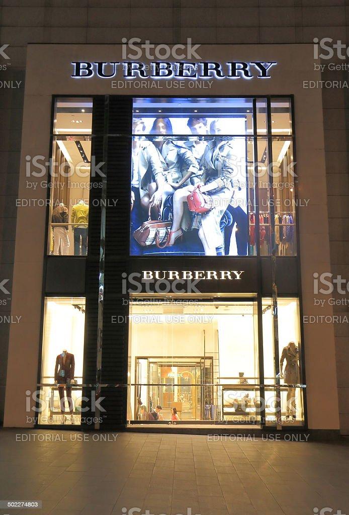 Burberry Shop Bukit Bintang Kuala Lumpur stock photo