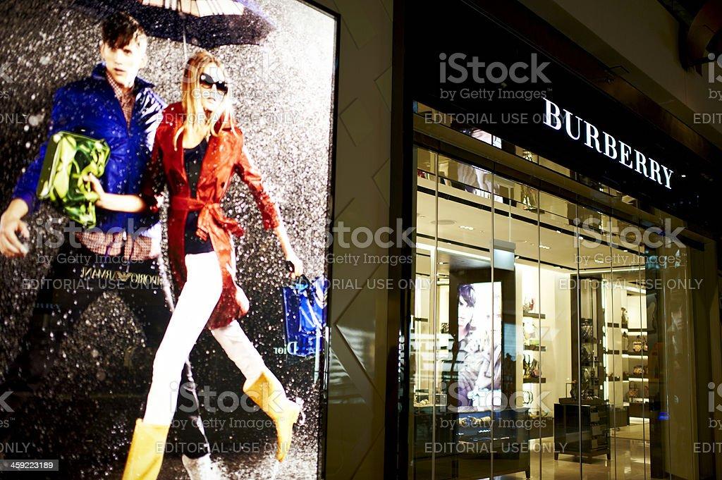Burberry Shop stock photo