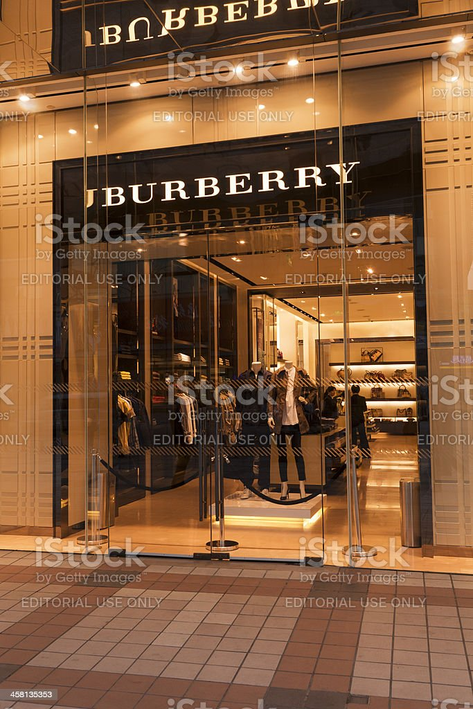 Burberry Shop Window Beijing China stock photo