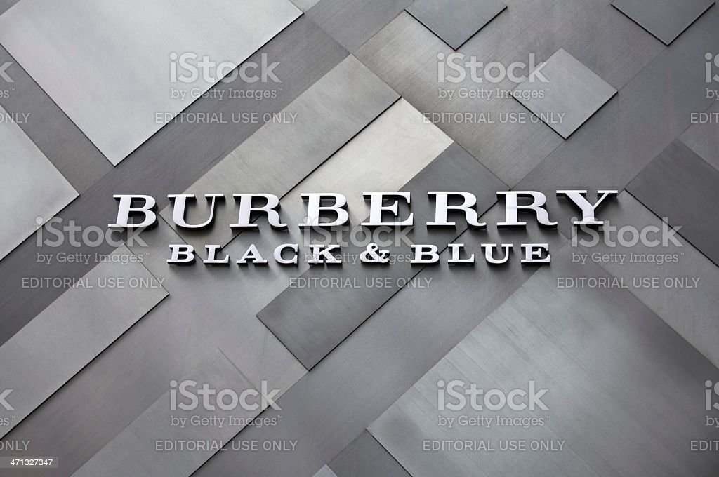 Burberry Signage stock photo