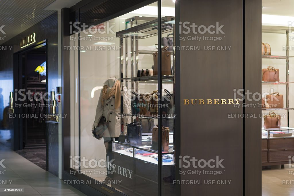 Burberry store at Fiumicino Airport in Rome stock photo