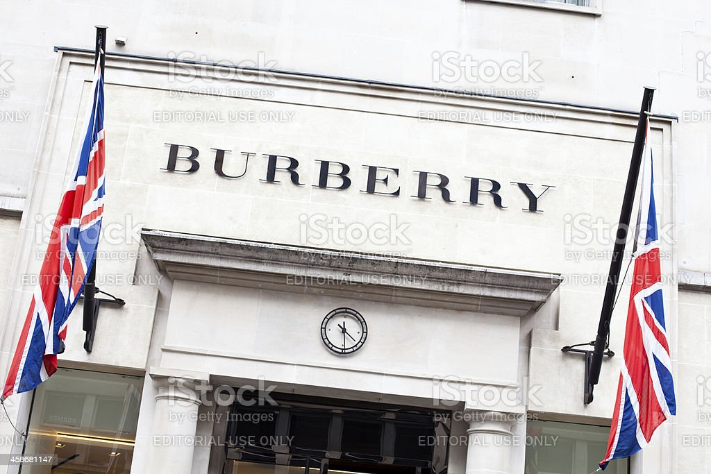 Burberry Store in London stock photo