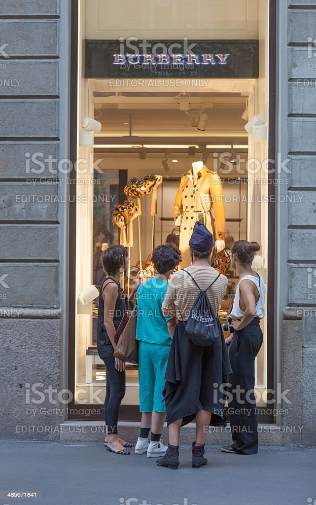 Burberry store in Milan stock photo