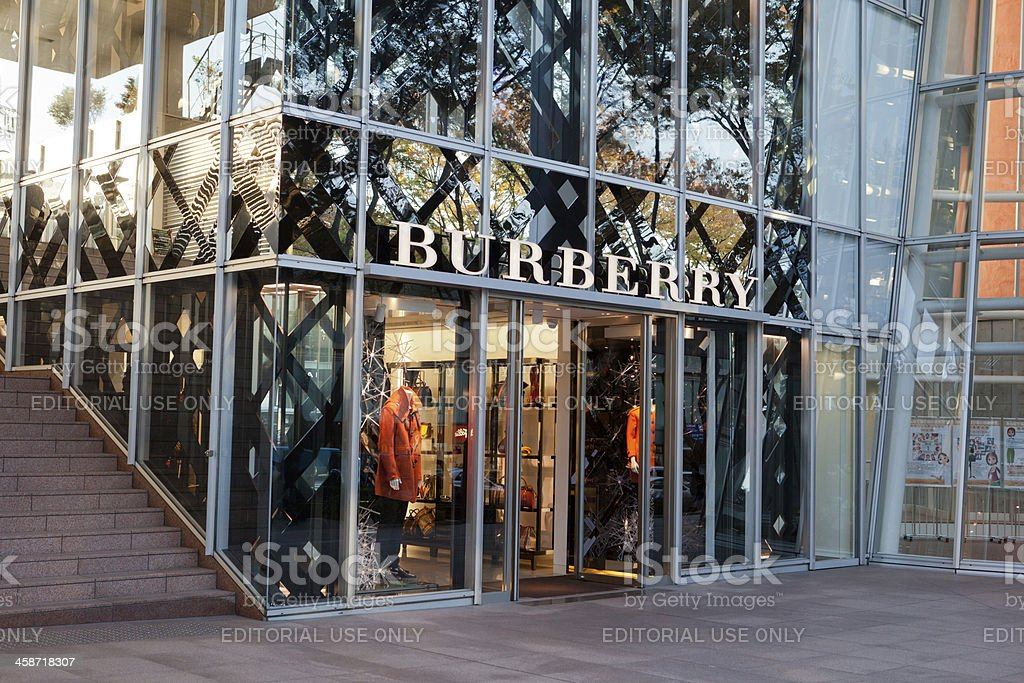 Burberry Store in Tokyo, Japan stock photo