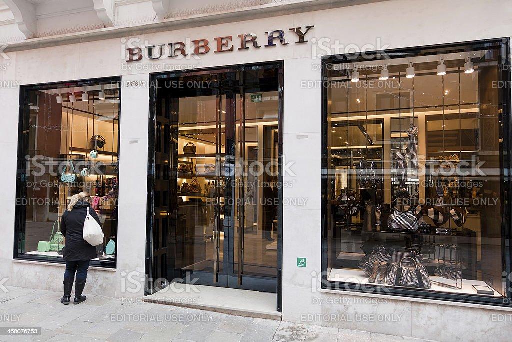 Burberry Store in Venice stock photo