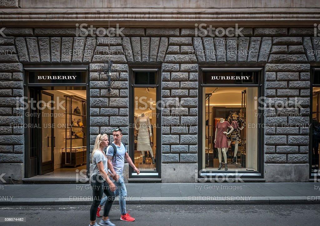 Burberry store in Via dei Condotti stock photo