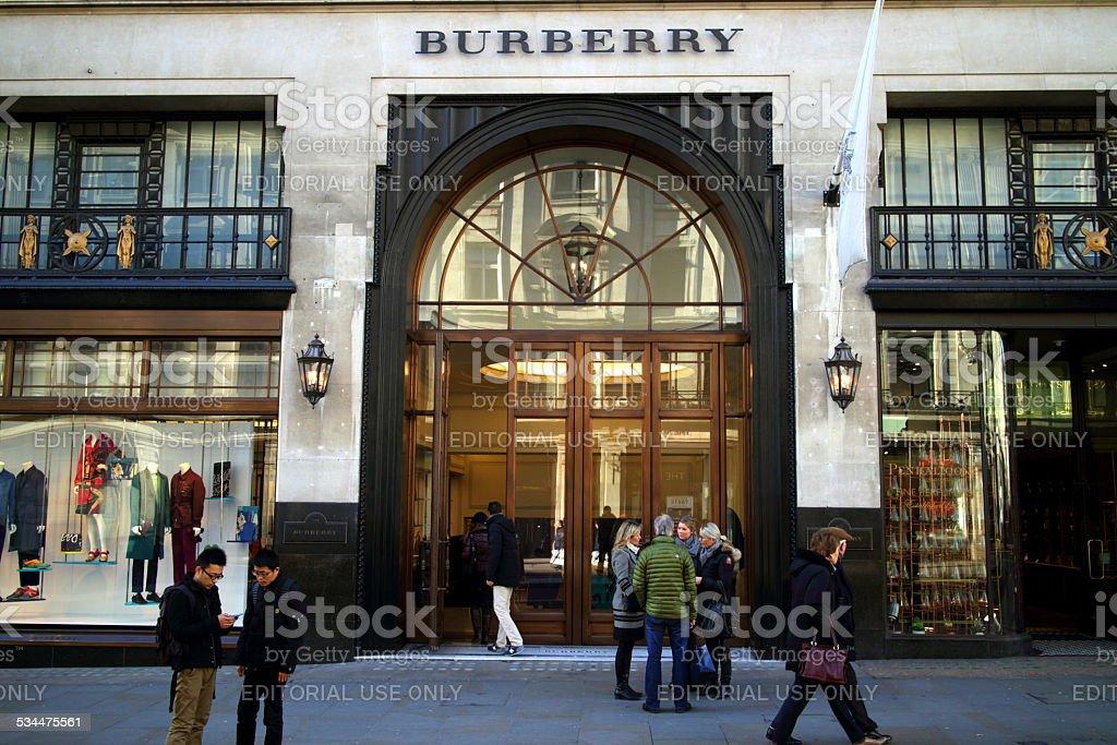 Burberry Store London stock photo