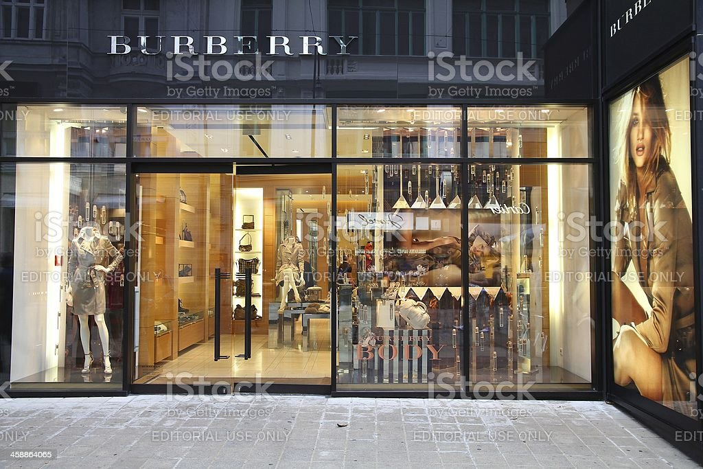 Burberry store stock photo