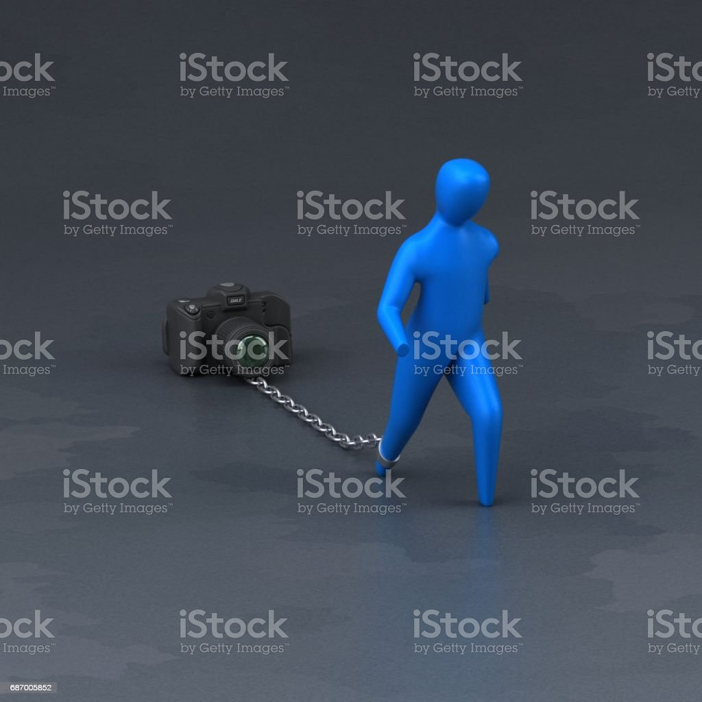 Burden symbol - 3D Illustration Lizenzfreies stock-foto