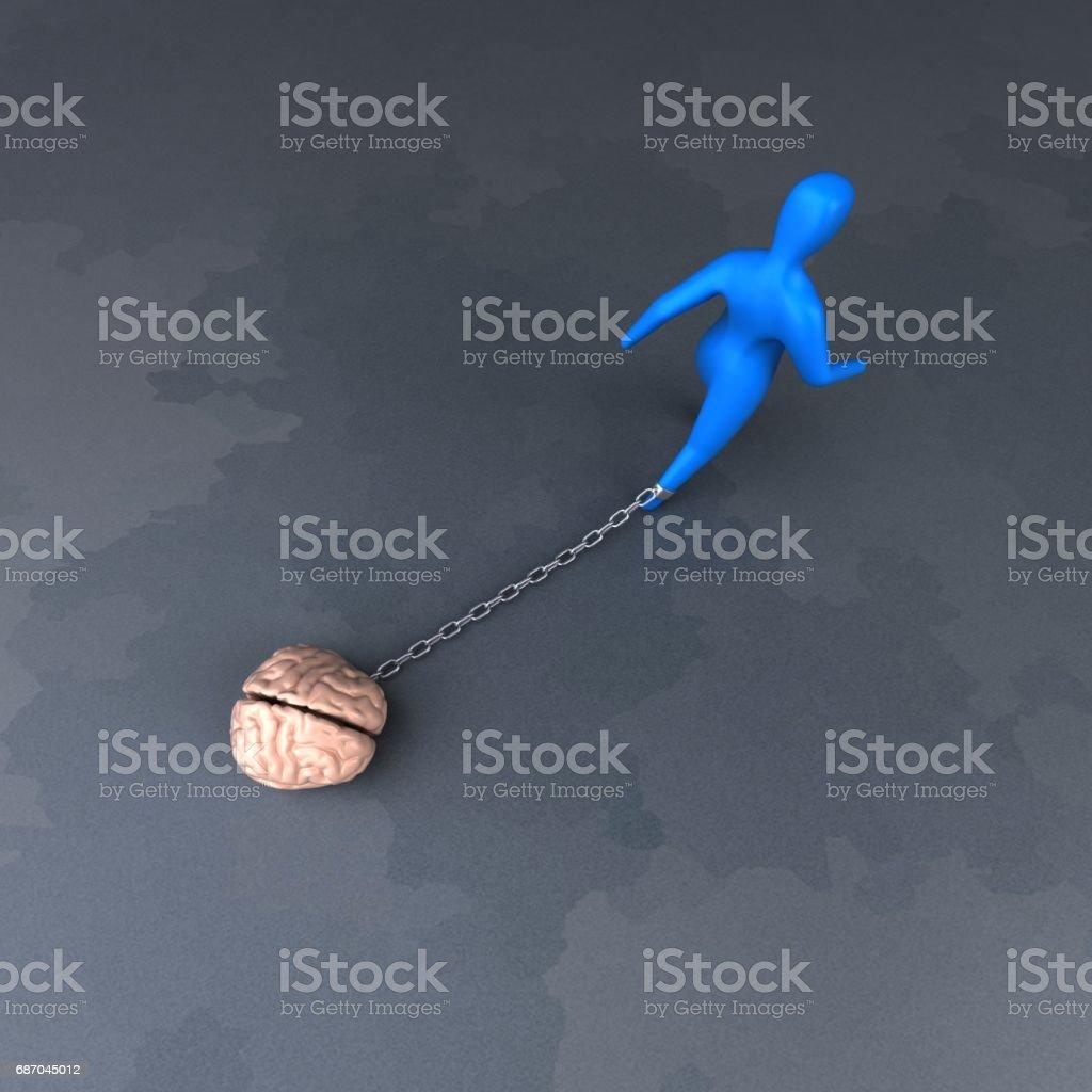 Burden symbol - 3D Illustration stock photo