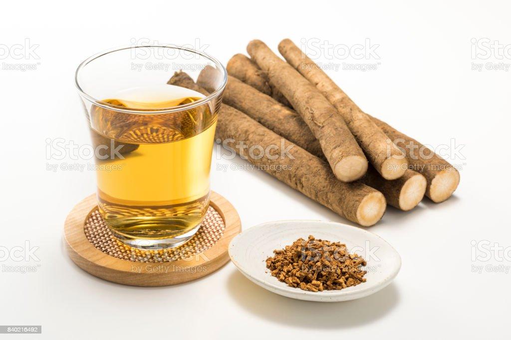 Burdock tea - foto stock