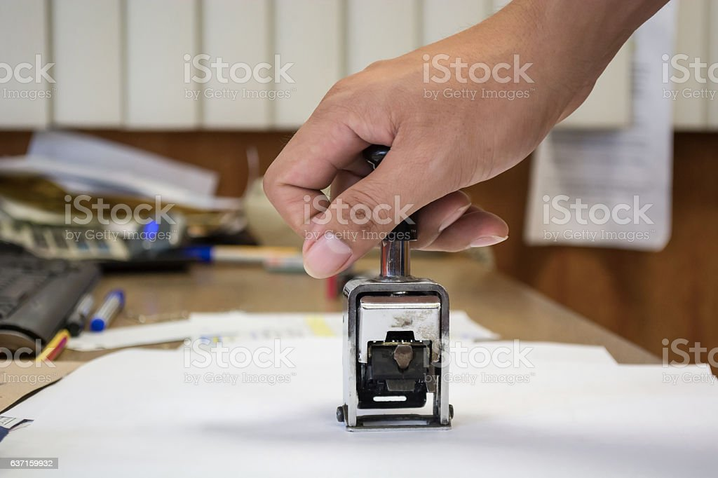 bureaucracy concept with stamp in business office stock photo