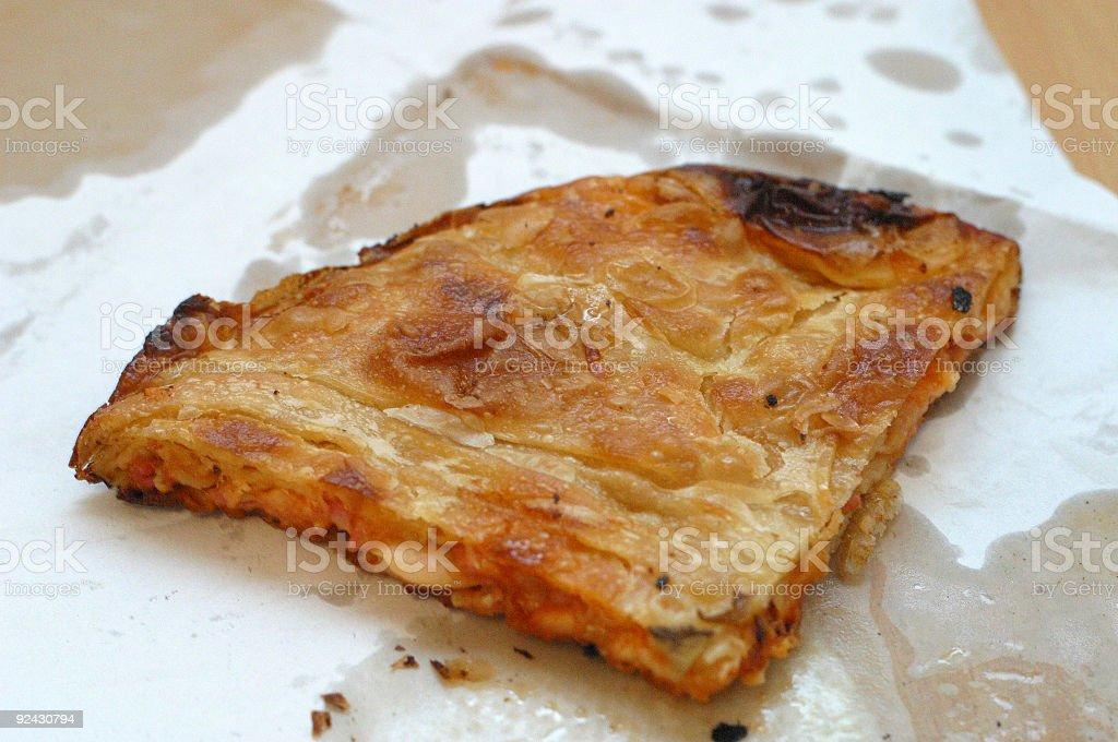 Burek - a greasy meal royalty-free stock photo