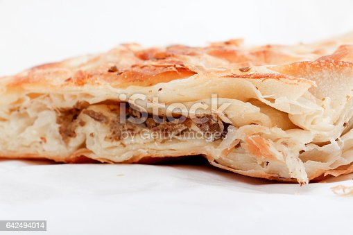istock Burek with meat , a traditional Balkan food, 642494014