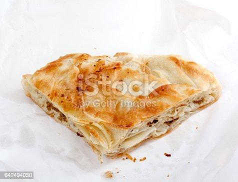 istock Burek with meat , a traditional Balkan food, 642494030