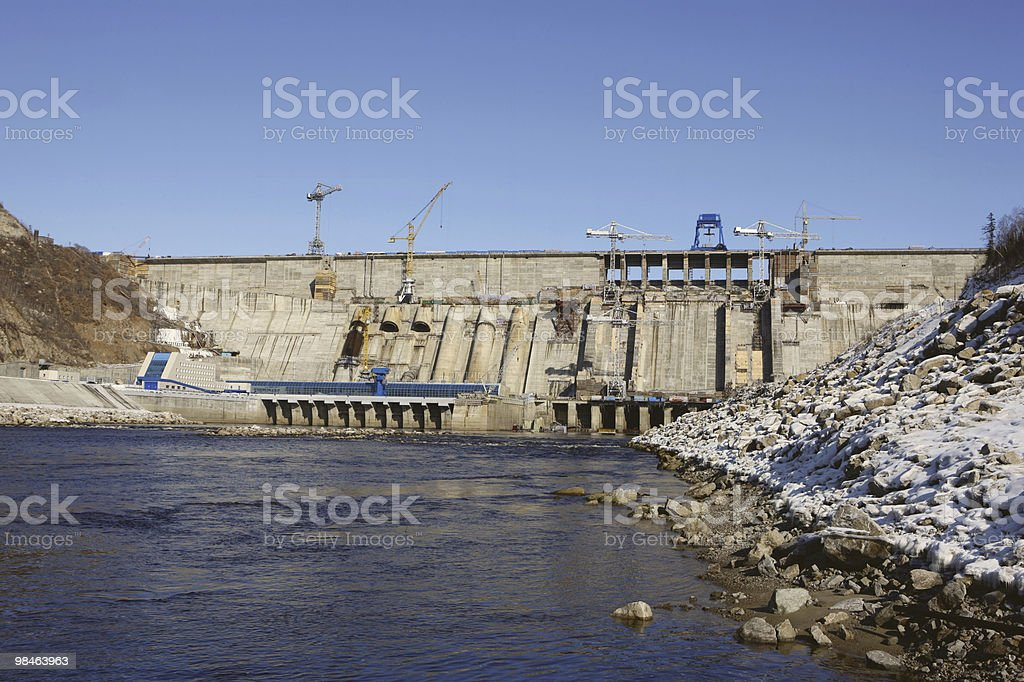 Bureyskaya Power Plant royalty-free stock photo