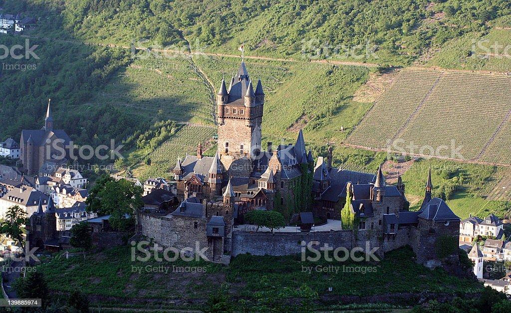 Burg Cochem River Valley stock photo