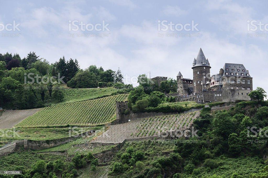 Burg (Castle) Stahleck, near Bacharach, Germany stock photo