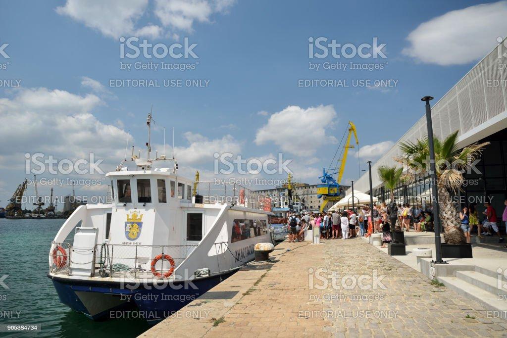 Burgas port, passenger terminal zbiór zdjęć royalty-free