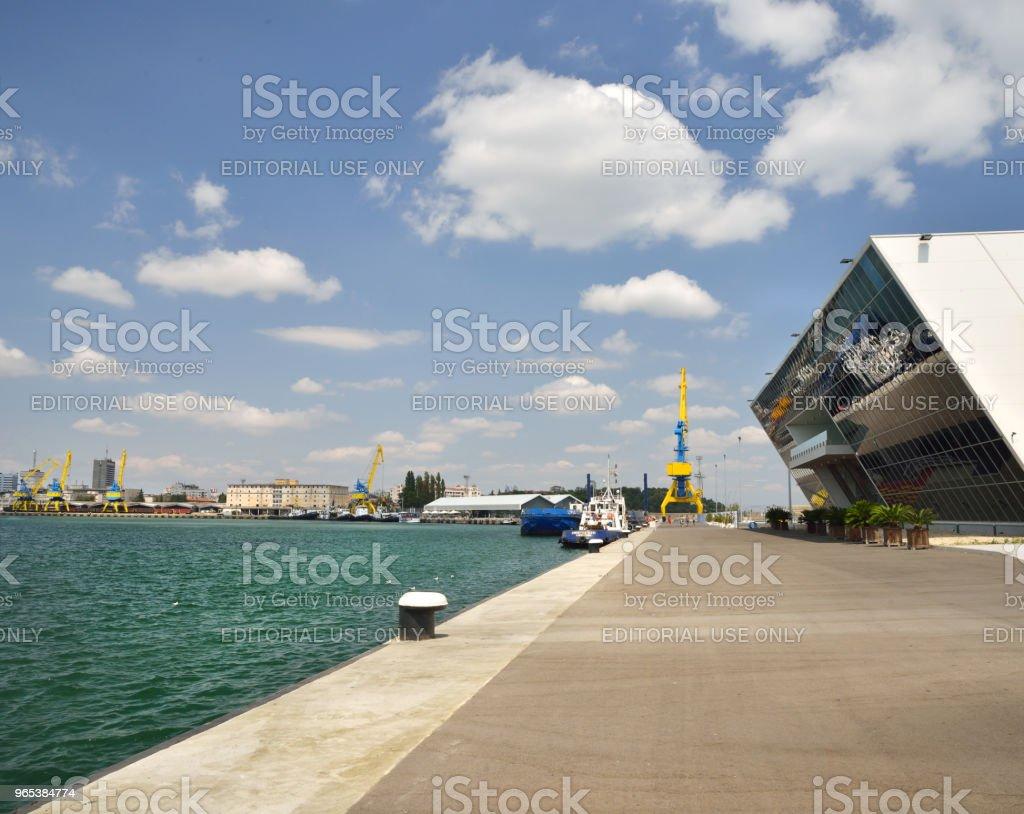 Port de Burgas, aérogare passagers - Photo de Affaires Finance et Industrie libre de droits