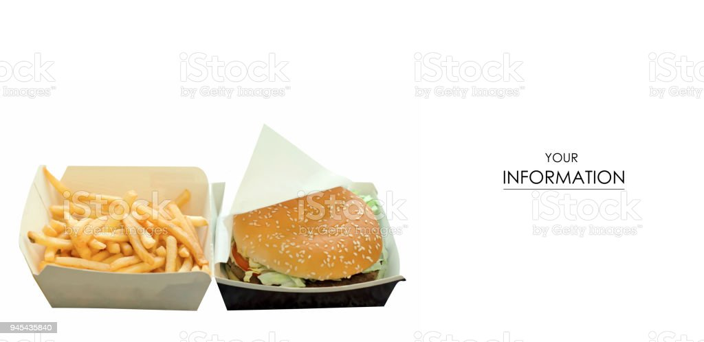 burger and french fries box pattern stock photo more pictures of