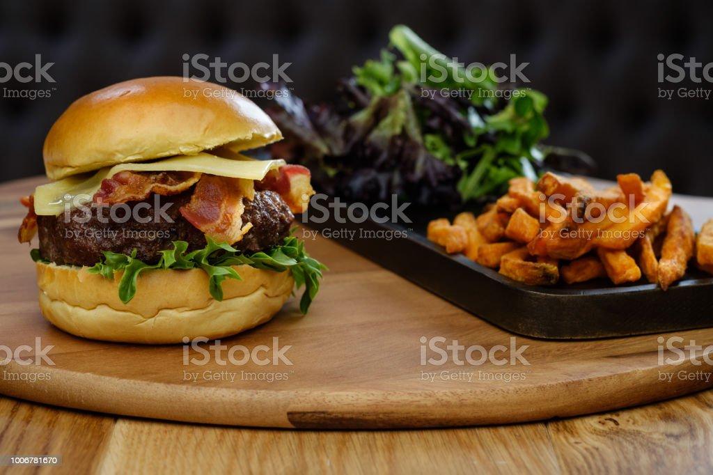 Burger Bar stock photo