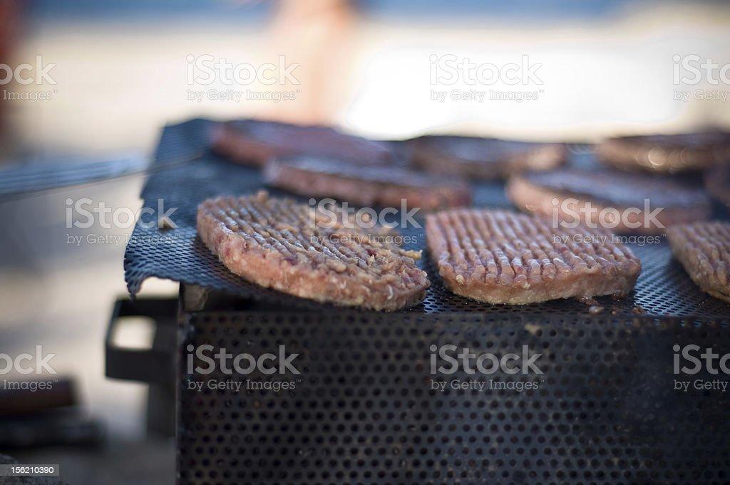 Burger BBq stock photo