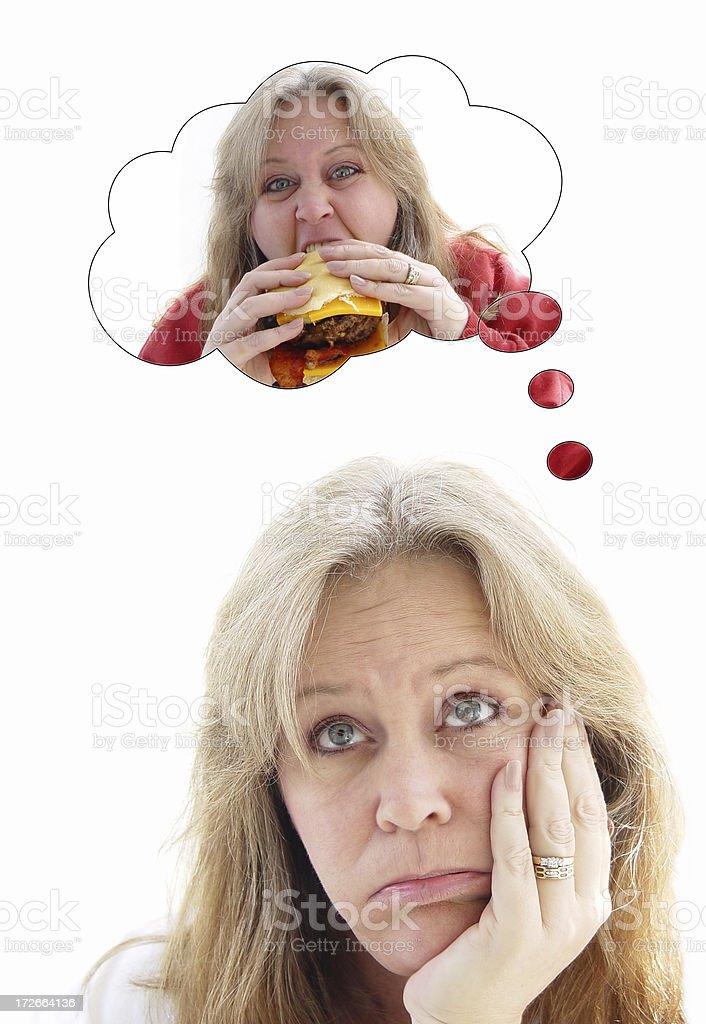 burger binge series -  diet royalty-free stock photo