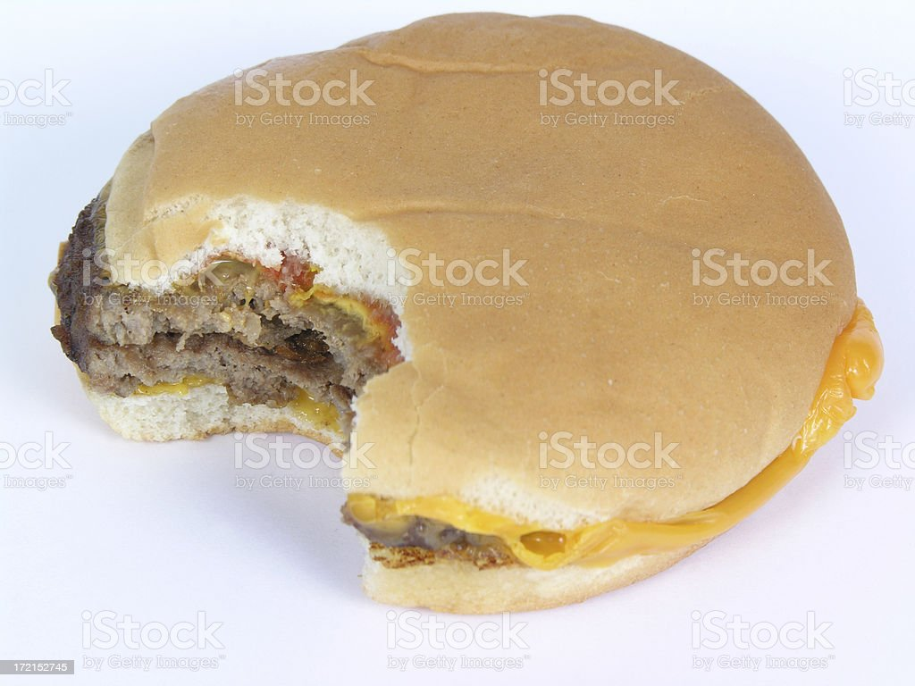 burger bite stock photo