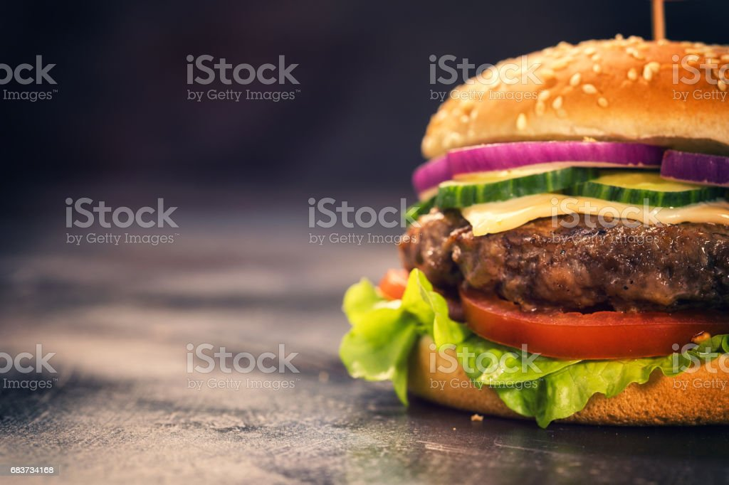Burger for 4th of July stock photo