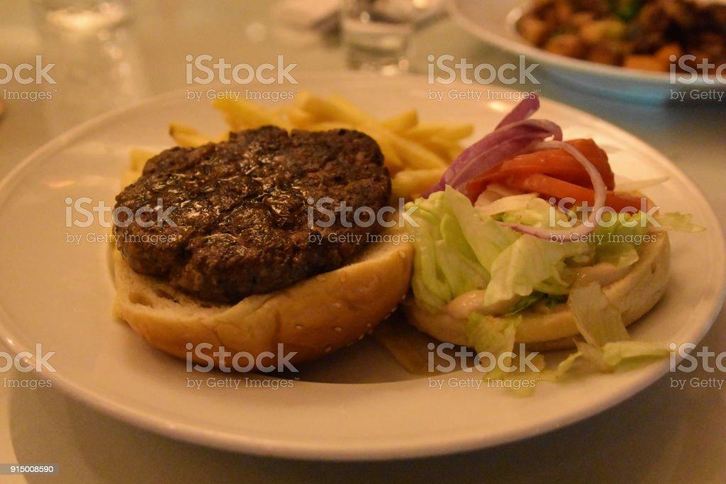 Burger in a bun stock photo