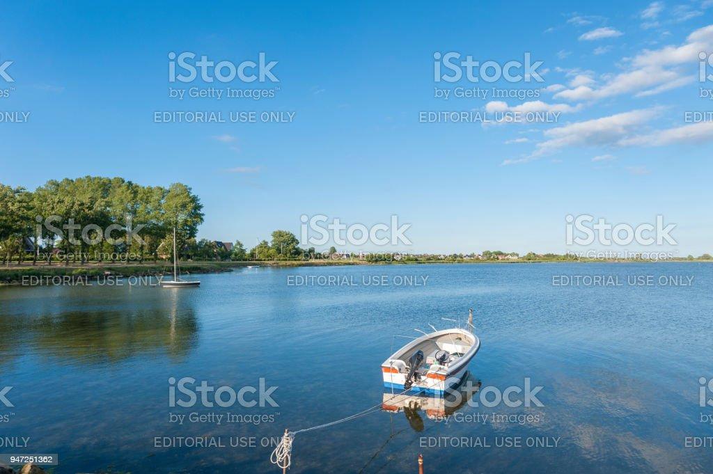 Burger inland lake in Burgstaaken stock photo