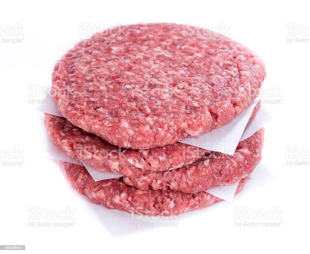 Burger isolated on white stock photo
