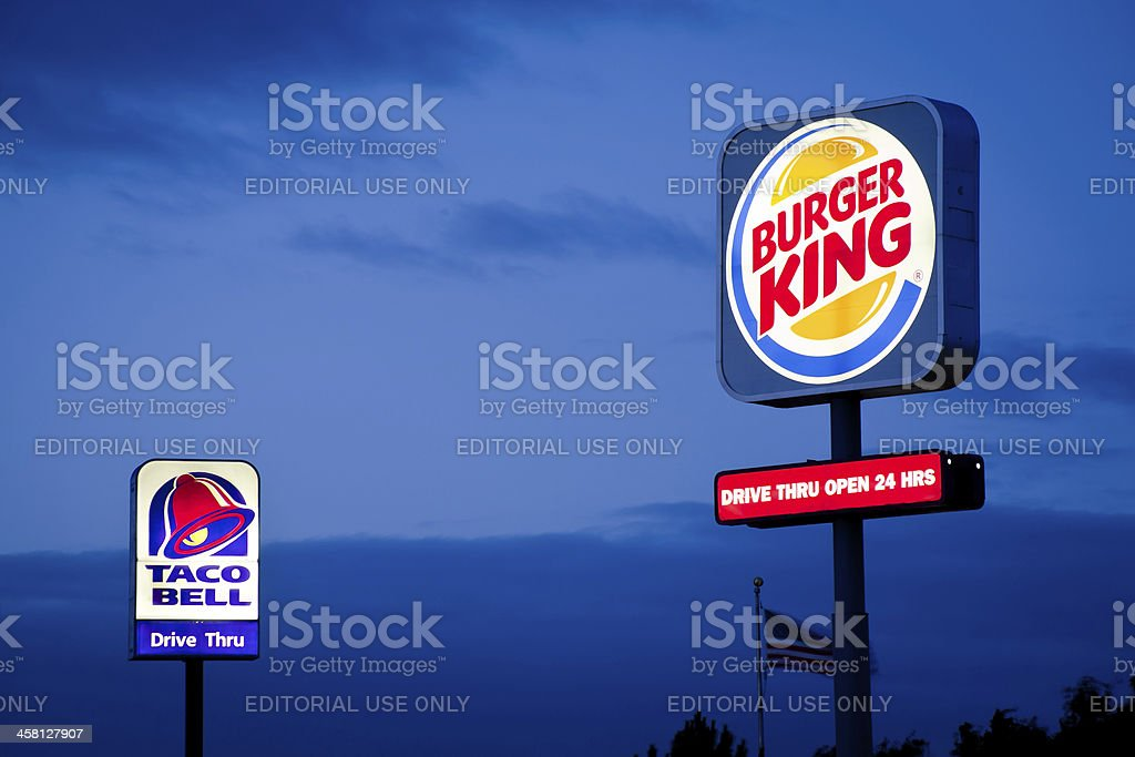 Burger King and Taco Bell Signs