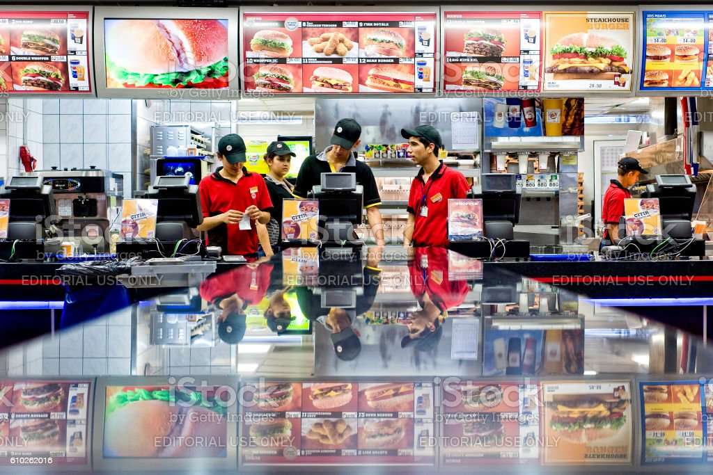 Burger King Fast Food stock photo