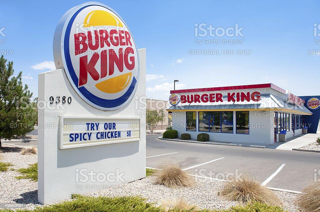 Reastaurant di Fast Food Burger King - Foto stock royalty-free di Affari