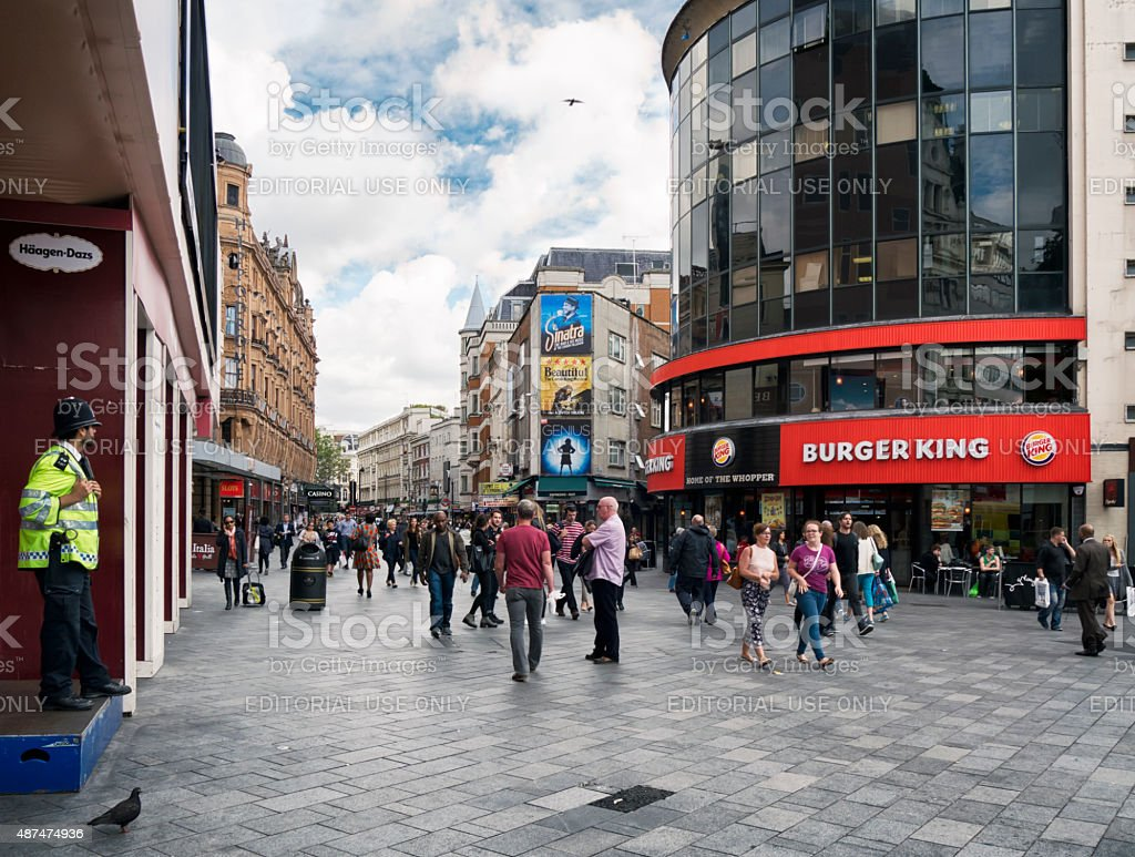 Burger King, Leicester Square stock photo