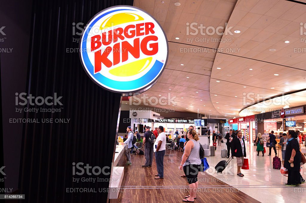 Burger King Restaurant stock photo