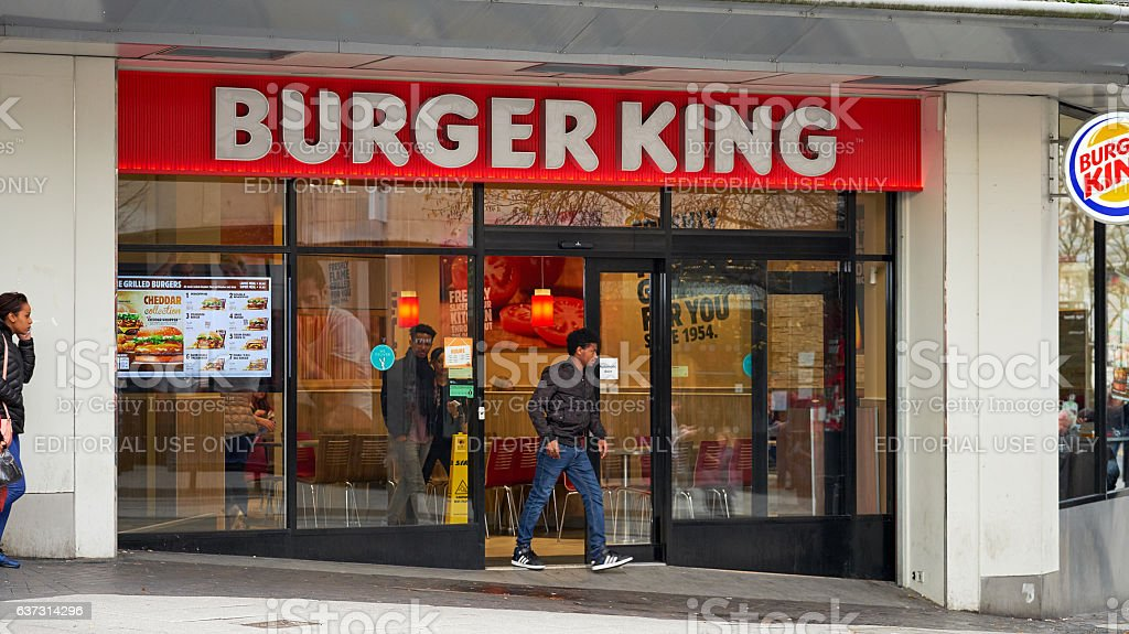 Burger King store in Birmingham UK stock photo