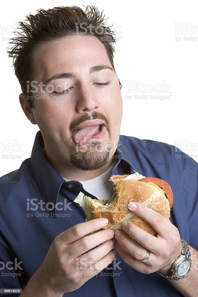 Burger Man royalty-free stock photo