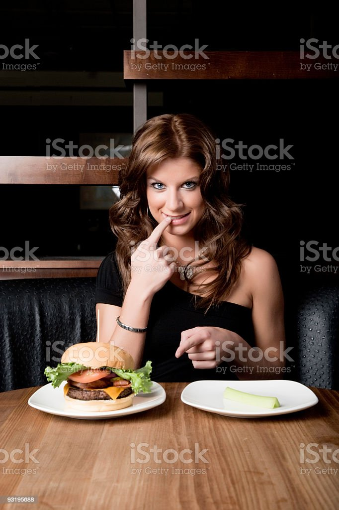 Burger or Celery? royalty-free stock photo