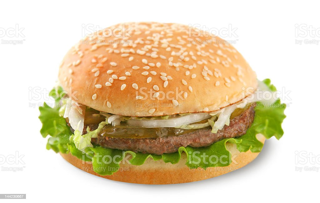 burger (isolated) royalty-free stock photo