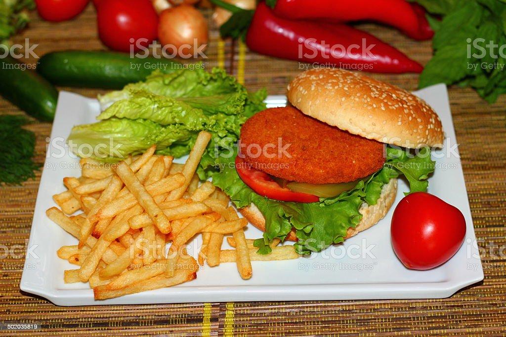 Burger stok fotoğrafı