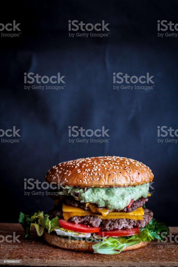 BBQ burger stock photo