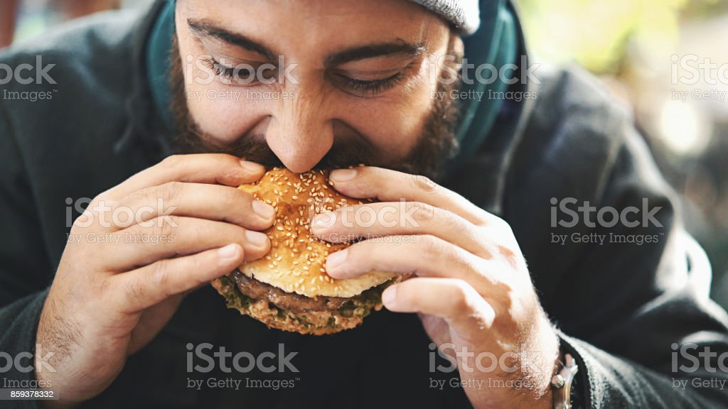 Burger time. stock photo