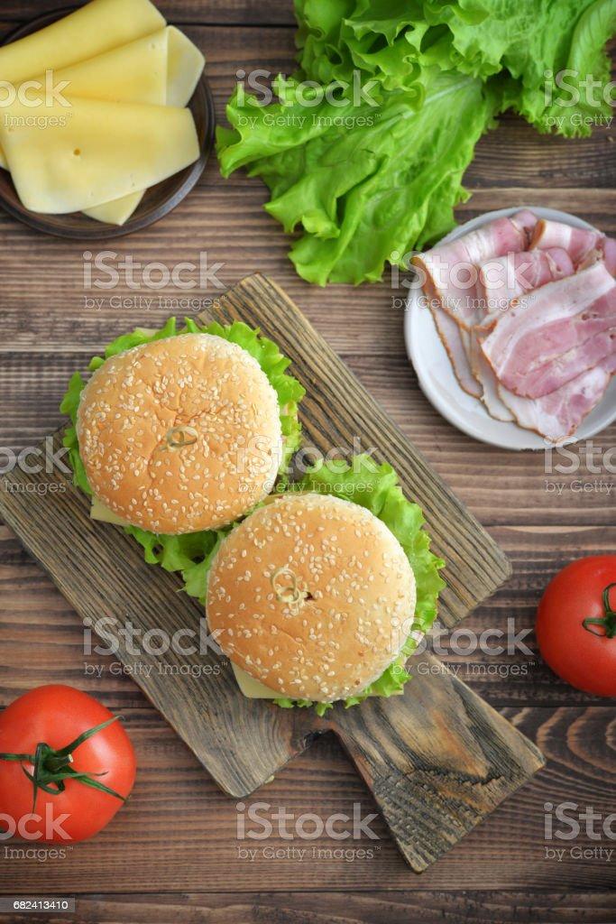 Burger with bacon 免版稅 stock photo