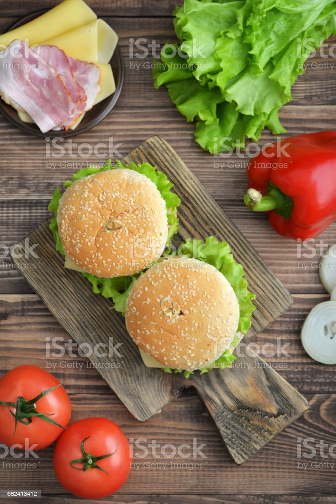 Burger with bacon royalty-free stock photo